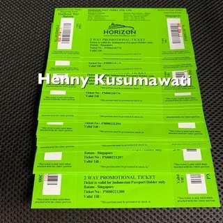HORIZON FAST FERRY $32 for Indonesian passport only