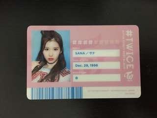 Twice Sana Japanese Ver ID card
