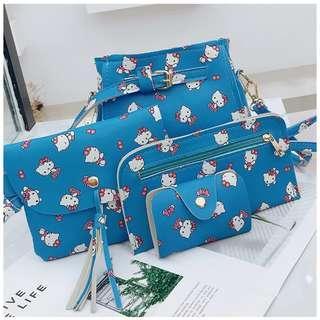 KW80383 Cute 4 In 1 Hello Kitty Bag