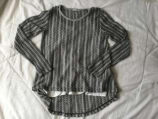 Zara sheer knitted top