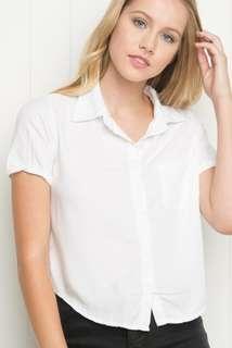 brandy melville white peyton shirt