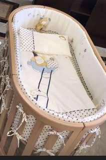 純棉嬰兒床品七件
