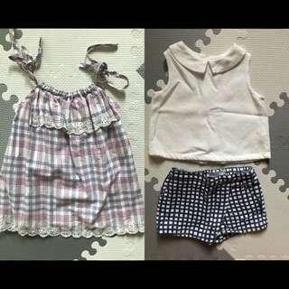 Gingersnaps top and shorts bundle 12m