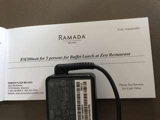 Buffet lunch voucher at ramada melaka