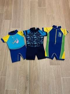 Kids thermal swimsuits