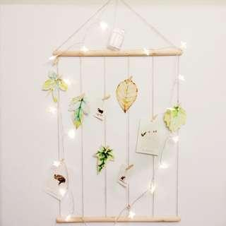 WOOD AND STRINGS MEMO PHOTO NOTE HANGER DECOR