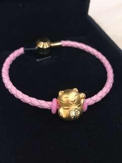 Fortune Cat 999 pure gold bracelet