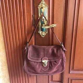 MANGO ALL LEATHER BAG - SUEDE - negotiable