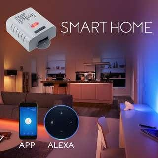 1817. MiMoo Smart Wireless WiFi Switches, Remote Control Smart Switch Light Switches Works with Amazon Alexa, Google Home, Google Nest, Smartphone APP for House Appliance, LED Plant Grow Lights, White