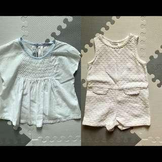 Gingersnaps top and romper bundle 18m