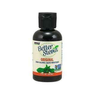🚚 Now Foods, Better Stevia, Liquid Sweetener, Original, 2 fl oz (60 ml)