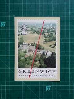 [贈品]1984 英國 格林威治子午線 原圖卡一枚