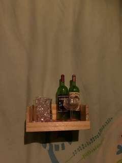 1/12 1:12 酒 架 木製 冰