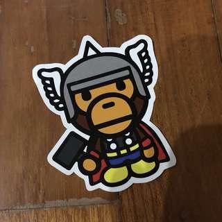 Pop Culture Luggage Laptop Misc Sticker Bape Bathing Ape Marvel Thor God Of Thunder Collaboration Fashion