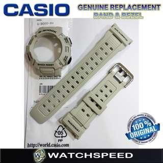 🚚 G-9000-8V Original Replacement Band and Bezel for Casio G-Shock