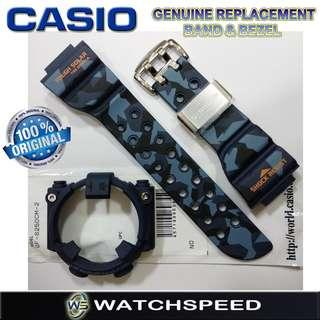 🚚 GF-8250CM-2/GF8250CM-2 Original Replacement Band and Bezel for G-Shock Frogman Camouflage