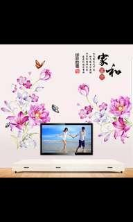 2 in 1 Large size Creative personality warm flower stickers wall stickers self-adhesive bedroom living room wall room decorations ⭕Size see last picture