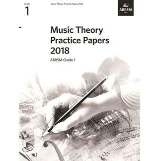 MUSIC THEORY PRACTICE PAPERS 2018 ABRSM