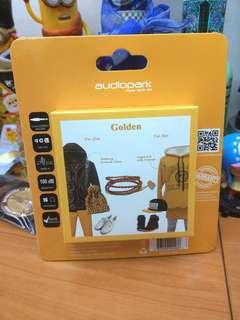 Audiopark headphone earphone Golden colour