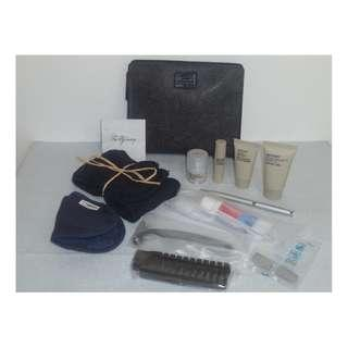 New ! Exclusive ! Complete Set of 12 items BRITISH AIRWAYS Liberty London FIRST CLASS Men's Amenity Kit