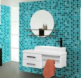 Waterproof Mosaic Tiles Wallpaper for Bathroom
