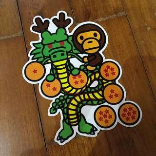 Pop Culture Luggage Laptop Misc Sticker Bape Bathing Ape Anime Dragonball Z DBZ Shenron Collaboration Fashion Dragon