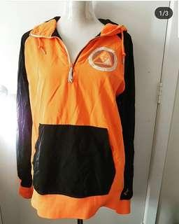 Nike black and orange hoody nylon jacket Size M