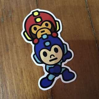 Pop Culture Luggage Laptop Misc Sticker Bape Bathing Ape Capcom Mega Man Rock Man Collaboration Fashion