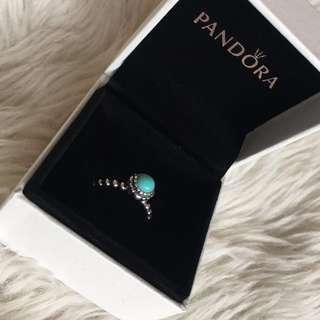 Pandora December Birthstone Ring Size 50