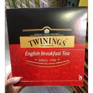 🚚 唐寧英倫早餐茶 100入 Twinings 紅茶 好市多代購 costco 英國 茶包 唐寧茶 下午茶 甜點 泡茶
