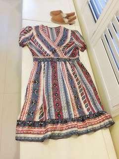 🚚 我的小巴黎 Vintage 復古懷舊風洋裝 絲綢面料 古著風   與眾不同  Street chic