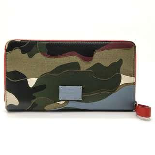Valentino Garavani Camouflage Zip Around Wallet (Multicolor)