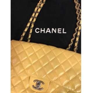 Chanel Flap bag Caviar Leather yellow