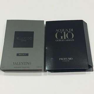 Valentino Uomo Intense & Acqua Di Gio Profumo Perfume Samples