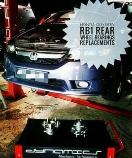 Honda Odyssey RB1:Rear Wheel_Bearings replacement.