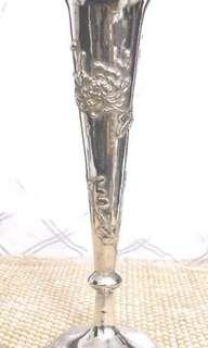 Antique Vintage Silver Vase Wang Hing Stamp