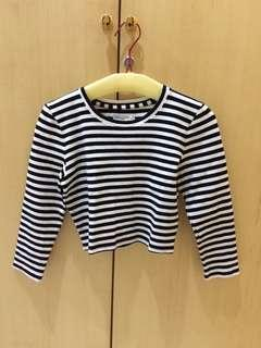 Abercrombie knit crop top ukuran S