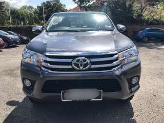 SEWA BELI  TOYOTA HILUX REVO 2.5 MANUAL G SPEC YEAR 2017 MONTHLY RM 1200 BALANCE 8 YEARS ROADTAX VALID PUSH START BUTTON LEATHER SEAT RADIO TOUCH SCREEN TIPTOP CONDITION  DP KLIK wasap.my/60133524312/revomanual