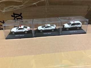 日本 警視廳 Toyota 警車 車仔3款 連透明盒