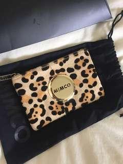 Mimco leopard print wallet