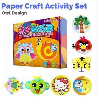 Clearance Sale Animal Paper Plate DIY Art Craft Activity Set - Owl Design