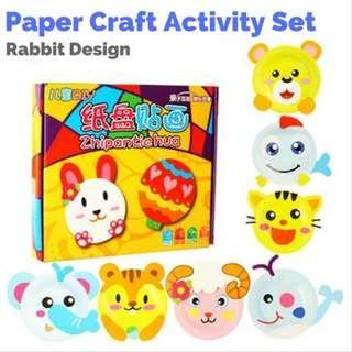 Clearance Sale Animal Paper Plate DIY Art Craft Activity Set - Rabbit Design