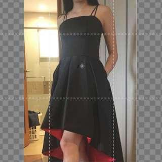TWO TONED COCKTAIL DRESS FOR RENT