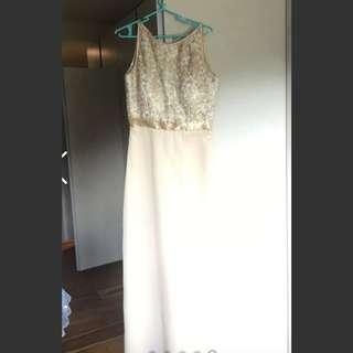 GOLD DRESS FOR RENT