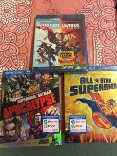 DC Animated Bluray and DVD set