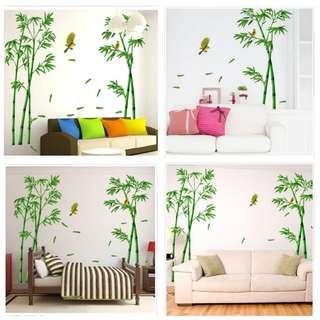 🎉New Arrival 2 in 1 Large Size Fresh and creative bamboo forest bedroom living room TV background wall decoration wall stickers