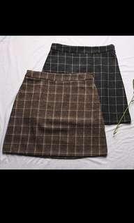 BNIP Grid Checkered Skirt