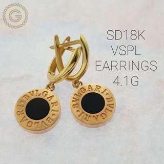18k saudi gold bvlgari earring