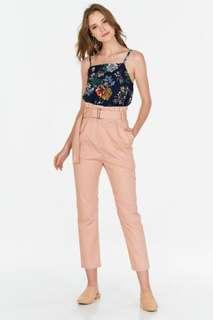 BNWT TCL Evon Paper Bag Pants in Pink Size S