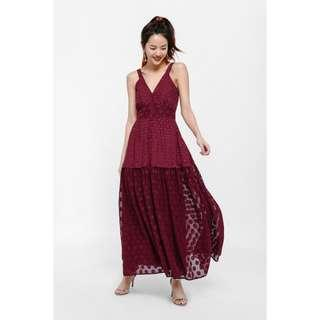 [PENDING] BNWT Love Bonito Ruxette Textured Maxi Dress